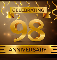Ninety eight years anniversary celebration design vector