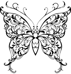 Pattern lace butterfly vector