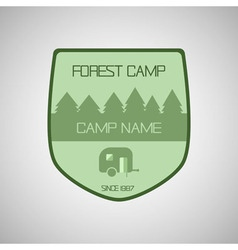 Retro badge and label logo graphic Camp badge and vector image vector image