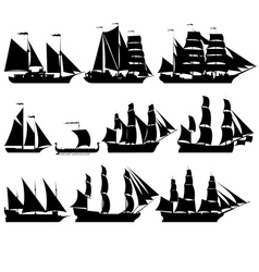 Sailing ships 2 vector