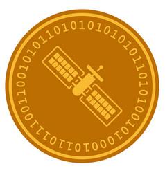 Satellite digital coin vector