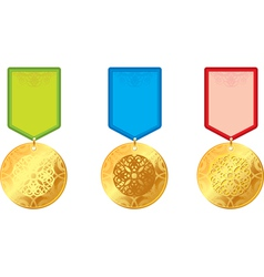set medal vector image