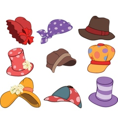 Set of Hats Cartoons vector image vector image