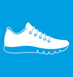 Sneakers icon white vector