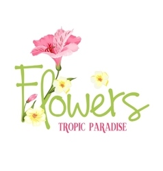 Tropic paradise flowers vector
