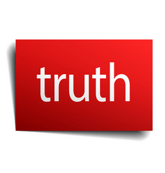Truth red paper sign on white background vector