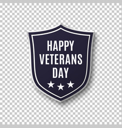 veterans day background template vector image