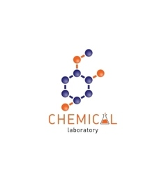 Chemical laboratory logo on a white background vector