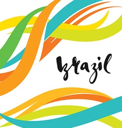 Inscription brazil background colors of the vector