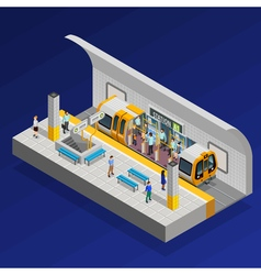 Underground Station Isometric Concept vector image