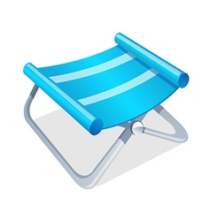 Icon camping chair vector