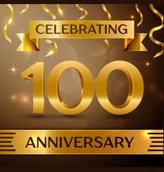 Hundred years anniversary celebration design vector