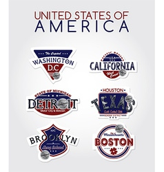 Us labels vector