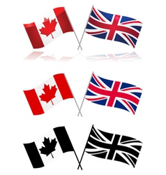 Canada and the UK vector image