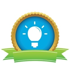 Light bulb certificate icon vector