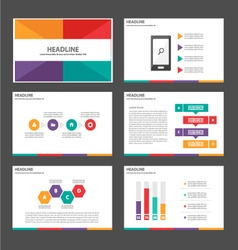 Colorful presentation templates infographic elemen vector