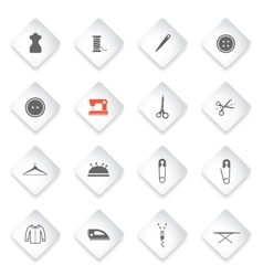 Tailoring simply icons vector