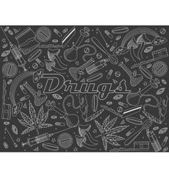 Drugs chalk vector