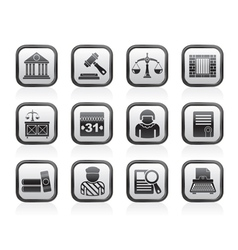 Justice and Judicial System icons vector image