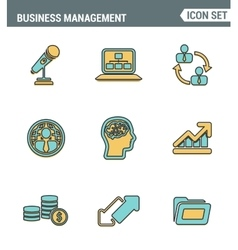 Icons line set premium quality of business people vector