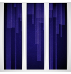 Abstract Blue Rectangle Shapes Banner vector image vector image