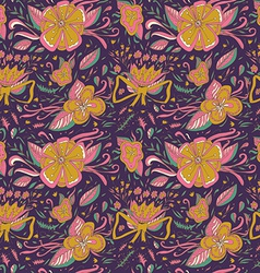 Abstract elegance seamless floral pattern on a vector image vector image