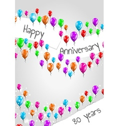 Anniversary poster 80 years vector