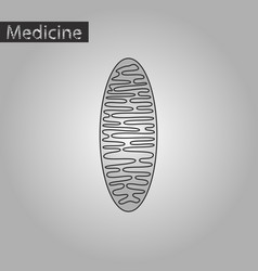 Black and white style icon of mitochondrion vector