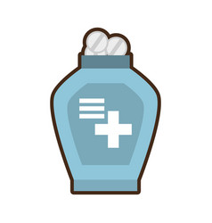 Bottle medicine dispenser container vector