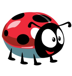 cartoon ladybird vector image vector image