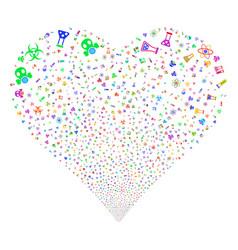 chemistry symbols fireworks heart vector image