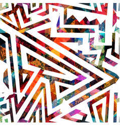 Colored maze seamless pattern vector