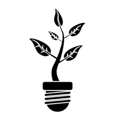 Ecology plant leaf nature pictogram vector