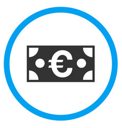 euro banknote rounded icon vector image