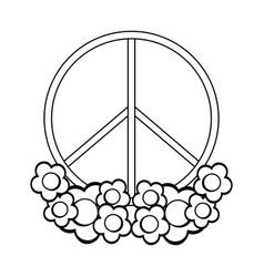 figure symbol peace and love icon vector image vector image