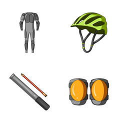 Full-body suit for the rider helmet pump with a vector