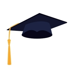 hat graduation achievement vector image