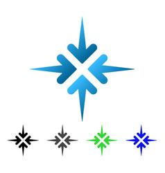 Impact arrows flat gradient icon vector