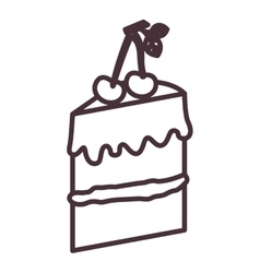 Isolated cake silhouette design vector