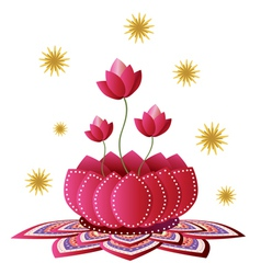 Lotus flower design vector