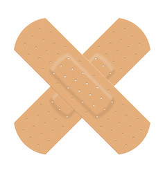 Medical adhesive plaster on white background vector