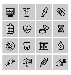 Medicine Heath Care icons vector image vector image