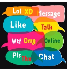 Multicolored speech bubbles vector image vector image