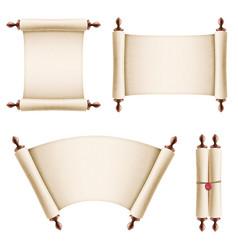 old vintage paper scrolls vector image