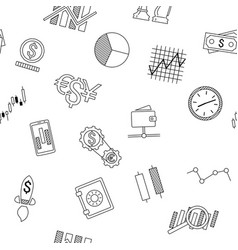 seamless background of stock forex icons finance vector image vector image