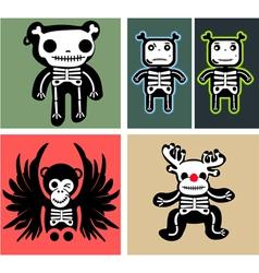 Set teddy bones vector