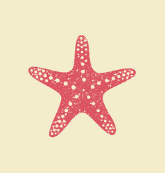 starfish in flat style vector image