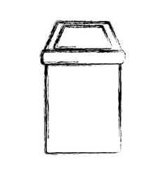 trash can isolated vector image vector image