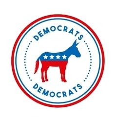 Democrat political party animal vector