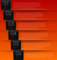 Warm color numbered banners vector image